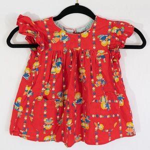 Vintage Raggedy Ann Girls Dress